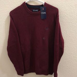 Men's Chaps burgundy wine sweater NWT